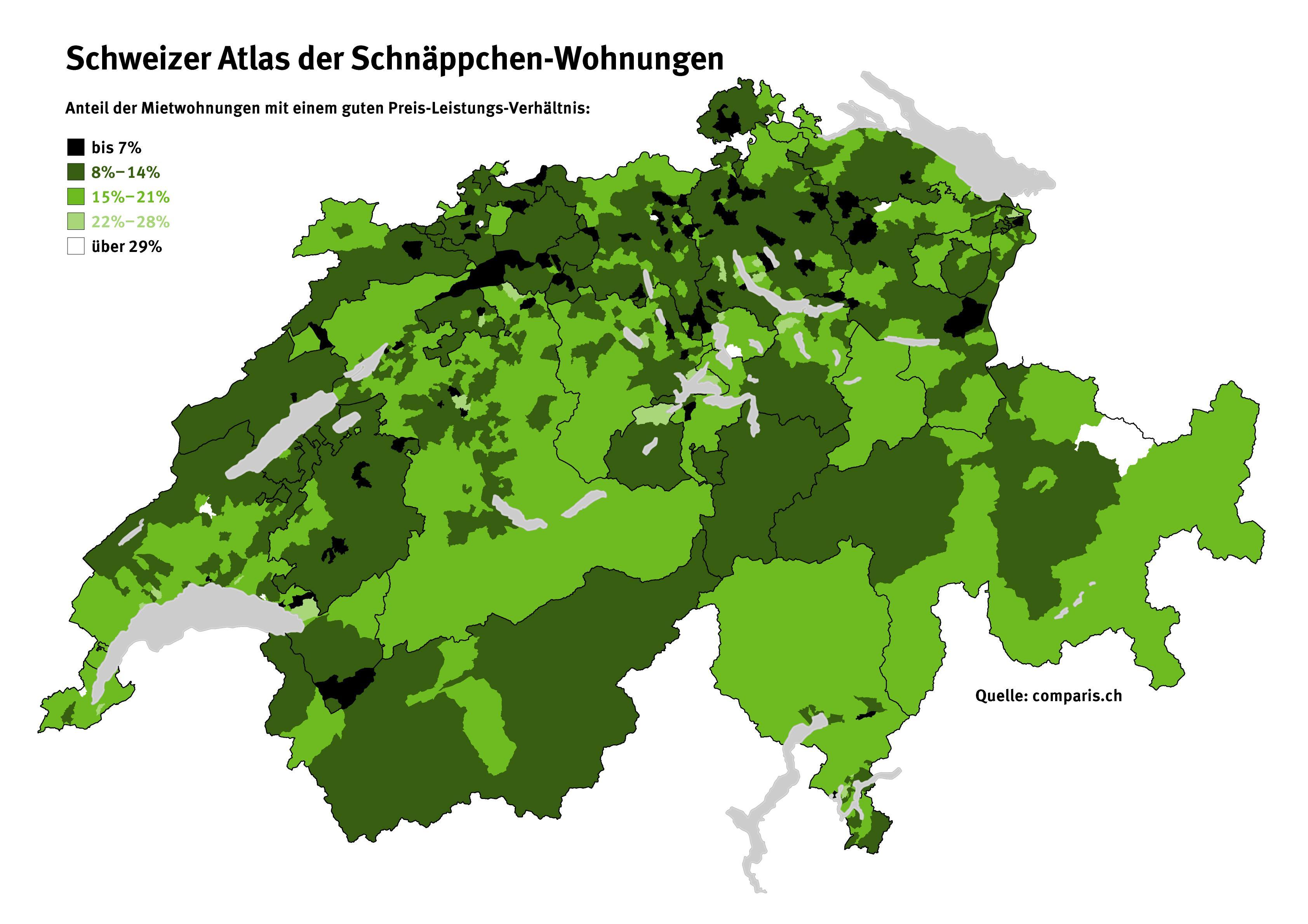 schweizer atlas der schn ppchen wohnungen. Black Bedroom Furniture Sets. Home Design Ideas